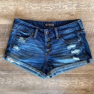 Abercrombie & Fitch Denim Shorts Sz 3 (w27)
